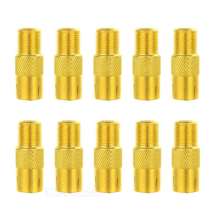 f-f TV RF coassiale connettore coassiale cavo adattatore - oro (10PCS)