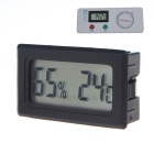 "Mini Indoor Digitale 1,56 ""LCD Thermometer Hygrometer Feuchtigkeit Temperatur-Messinstrument - Schwarz"
