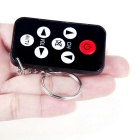 Mini Universal IR TV 7 Keys Remote Control w/ Keychain - Black