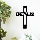 Jesus Cross PVC Wall Stickers Decals  - Black
