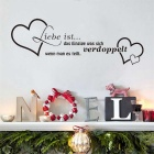 """Liebe ist"" German Words PVC Wall Sticker Decal - Black (S)"