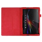 PU Leather Smart Case w/ Stand for Sony Xperia Tablet Z4 - Red
