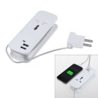 3-in-1 Dual-USB 3.5A Universal-Hülse Desktop-Lade Power Strip - White (US Stecker)