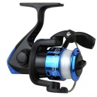 High-End Fishing Line Wheel w/ Foldable Handle - Blue + Silver
