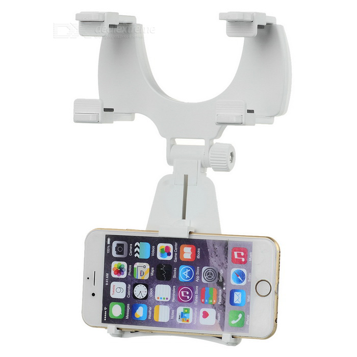 180' Rotation Rearview Mirror Bracket for IPHONE 6/6S - White + Black