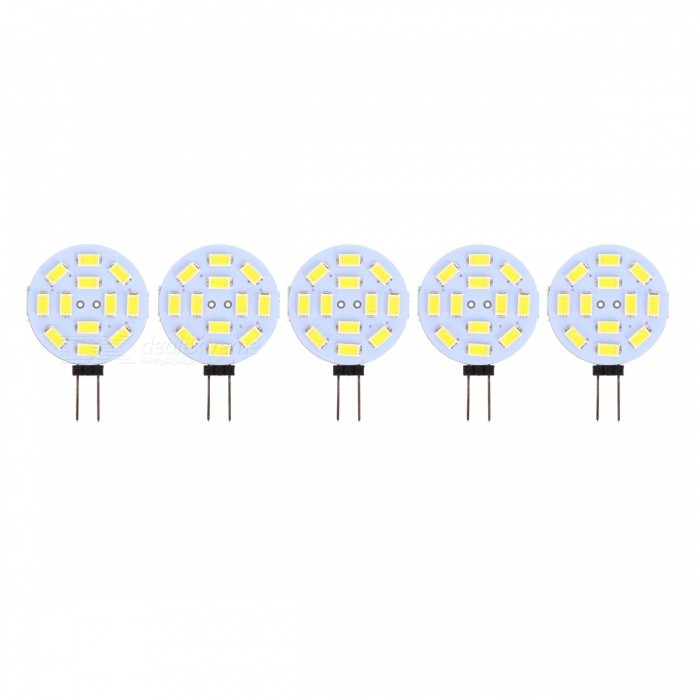 G4 2.5W 12-5730 SMD 200lm Cool White Lights (DC 12V / 5PCS)