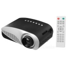 Mini Portable LED 1080P Home / Office Projector w/ SD, VGA, AV, HDMI - Black + Grey