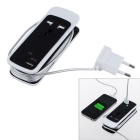 Universal-5V 3.5A Doppel-USB + EU-Stecker Hülse Desktop-Lade Power Strip - schwarz (100 ~ 240V)