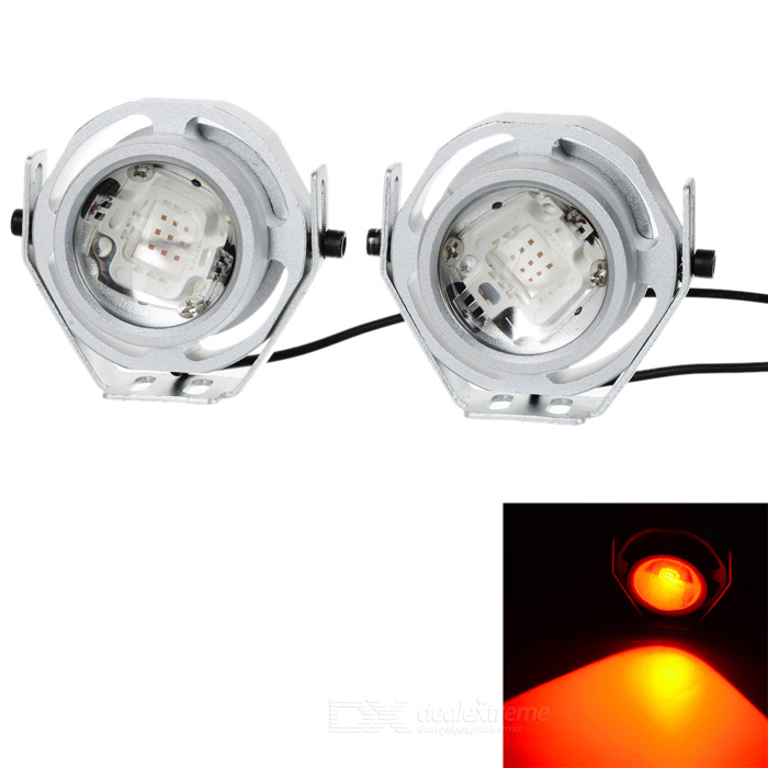 Waterproof Wired 4.3W 200lm Red Light 9-LED Car Signal Light (2PCS)