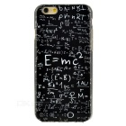Fashion Formula Pattern Protective TPU Back Case Cover for IPHONE 6S - Black + White