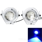 Waterproof Wired 6.2W 9-LED Car Decoration Light Blue 100lm (2PCS)