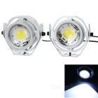 Waterproof Wired 5.5W 480lm 15000K Cool White Light 9-LED Car Headlamps (AC/DC 12V / 2PCS)