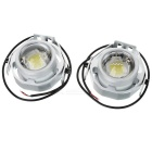 Waterproof Wired 5.5W 480lm Cool White Light 9-LED Car Headlamp (2PCS)