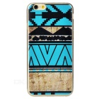 Fashion Ethnic Style Protective TPU Back Case Cover for IPHONE 6S - Black + Blue