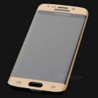 S-What 3D Full Cover Tempered Glass Film for Samsung S6 Edge - Golden