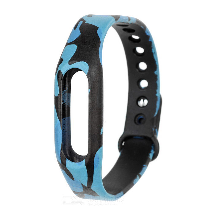 Wrist Band Strap for Xiaomi Smart Bracelet - Blue Camouflage