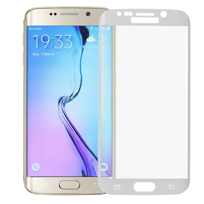 S-What 3D Full Cover Tempered Glass Film for Samsung S6 Edge - White