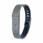 Replacement Auspicious Clouds Pattern Large TPE + TPU Sports Wrist Band w/ Clasp for Fitbit Flex