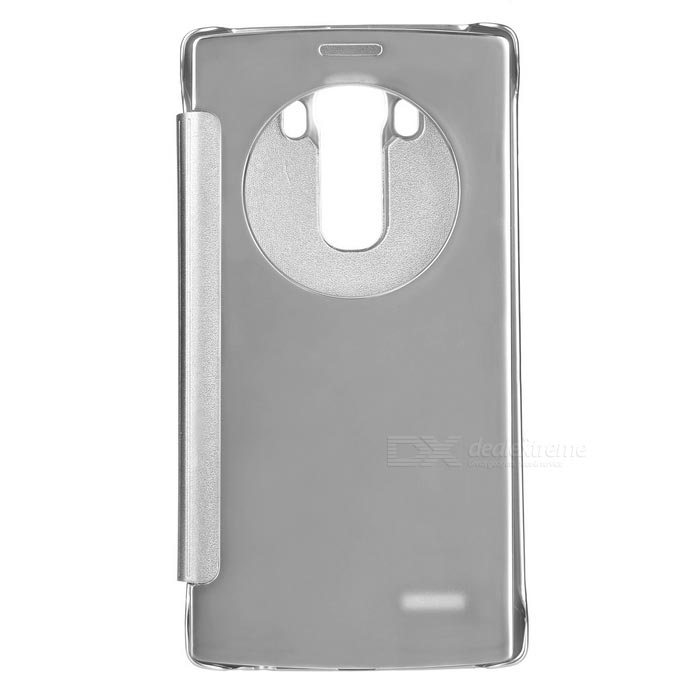 Plating Flip Open Mirror Cover ABS + PU Case for LG G4 - Silver - Free Shipping - DealExtreme