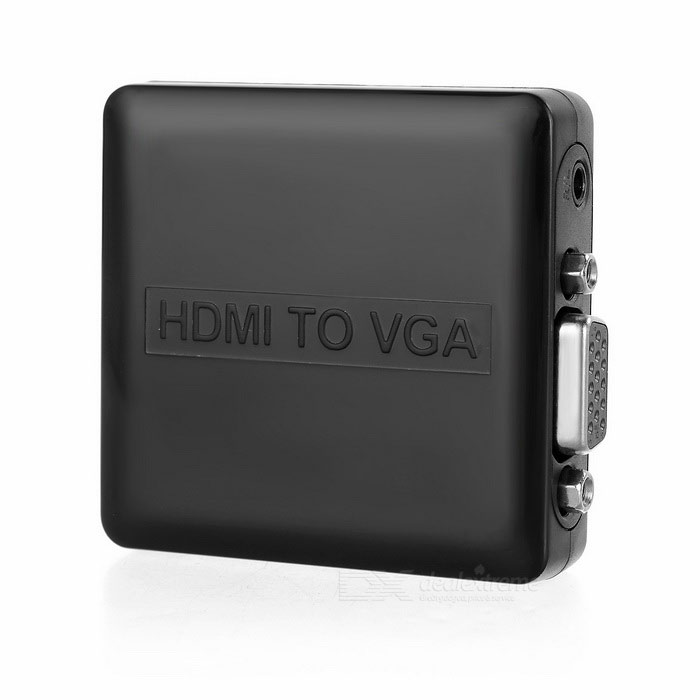 HDMI to VGA Audio Adapter - Black