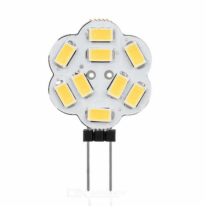 G4 2W 9-5730 SMD 170lm 3200K Warm White Lights - White (DC 12V / 5PCS)
