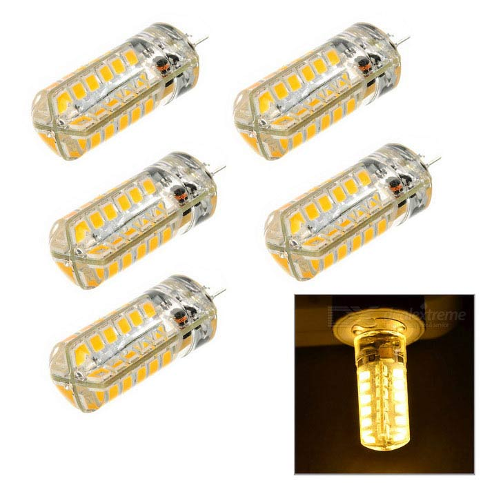 G4 3W LED Light Bulb Warm White 3200K 48-SMD - White + Yellow (5PCS)