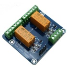 2-Channel 24V Low Level Dual Power Relay Module - Orange + Blue