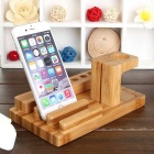 Bamboo Combo Charging Dock for Apple Watch / IPHONE 6 - Wood Color