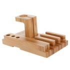 Bamboo Combo-Ladestation Cradle Halterung für Apple-Uhr / IPHONE 6 / IPHONE 6 PLUS / iPad Mini