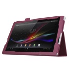 PU Leather Smart Case w/ Stand for Sony Xperia Tablet Z4 - Purple