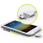 WSKEN Micro USB Magnetic Charging Cable w/ 2 Metal Plugs - White
