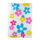 Flowers Pattern Space-saving Vacuum Seal Bag - White + Yellow + Blue + Dark Pink (100 x 80cm)