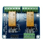 2-Channel 12V Low Level Dual Power Relay Module - Green + Orange