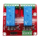 2-Channel 24V High Level Dual Power Relay Module - Red + Blue