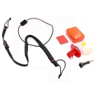 PANNOVO Surfing Fixed Braces Connecting Mount Set for GoPro Hero 2 / 3 / 3+ / 4 - Red + Multicolor