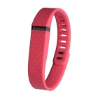 Replacement 3D Stereo Texture TPE / TPU Wristband for Fitbit Flex - Deep Pink (161-209mm)