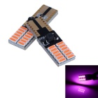 T10 4.5W 360lm Pink 24-SMD LED Car Width Lamp / Turn Signal Light