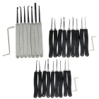 7-Piece Single Hook + 2*9-Piece Lock Pick Set w/ Z-Shape Picking Tool