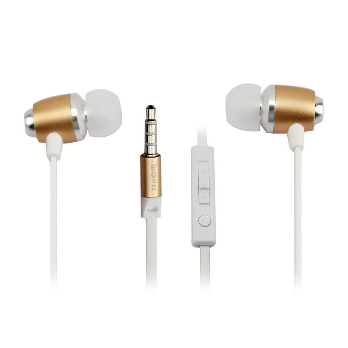 MGALL M7 Overweight Bass In-Ear Earphone w/ Mic - White (3.5mm)