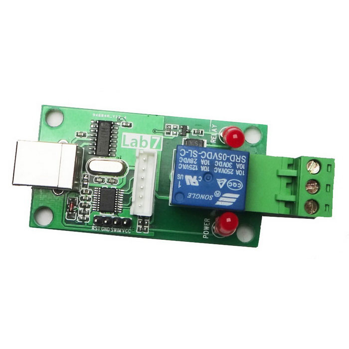 USB 1-Channel 5V Control Switch Relay Module - Green + BlueRelays <br>Form ColorGreen + Blue + Multi-ColoredModelNoQuantity1 DX.PCM.Model.AttributeModel.UnitMaterialFR4Max. LoadAC 220V/10A / DC 30V/10AInput Voltage5 DX.PCM.Model.AttributeModel.UnitEnglish Manual / SpecYesDownload Link   http://pan.baidu.com/s/1o6qusZoPacking List1 x Module1 x CD<br>