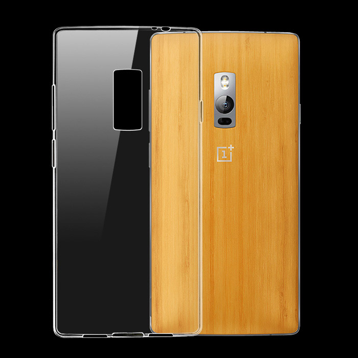 Ultra-thin Protective TPU Back Cover Case for OnePlus 2 - Transparent