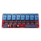 8-Channel 5V Wide Voltage Relay Module - Red + Multi-Colored