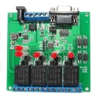 4-CH Serial Port Relay Controler Module w/ Switch / Solenoid Valve / Alarm Lamp