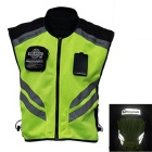 RIDING TRIBE JK-22 Reflective Motorcycle Riding Safety Vest Clothing Waistcoat - Green + Black (L)