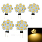G4 2.5W 200lm 3200K 12-5730 SMD Warm White LED Lights (DC 12V / 5PCS)