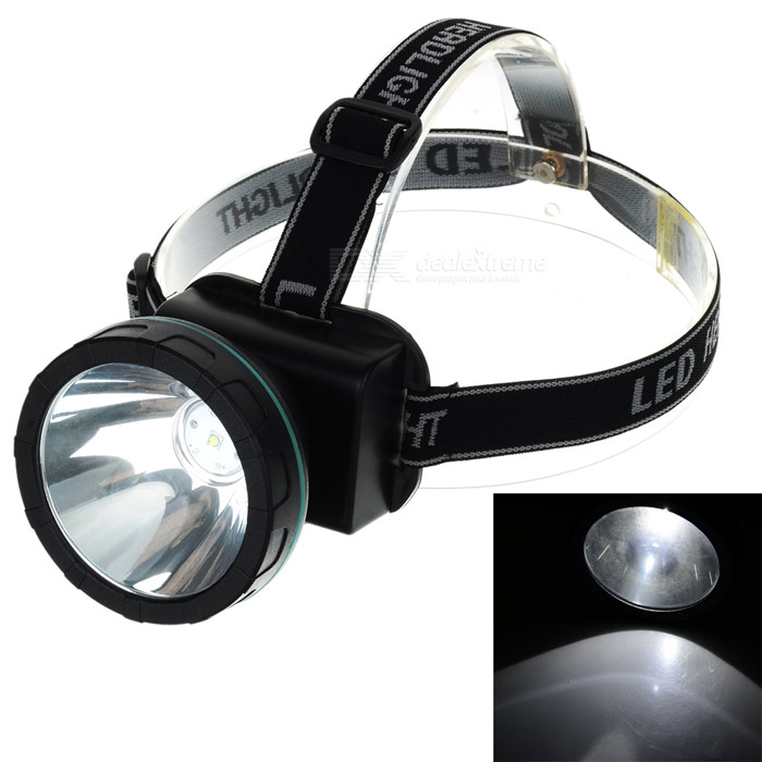YouOKLight 2-Mode Waterproof Cool White Light LED Headlamp - Black