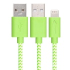 Yellowknife 8Pin Lightning to USB Cable for IPHONE - White + Green