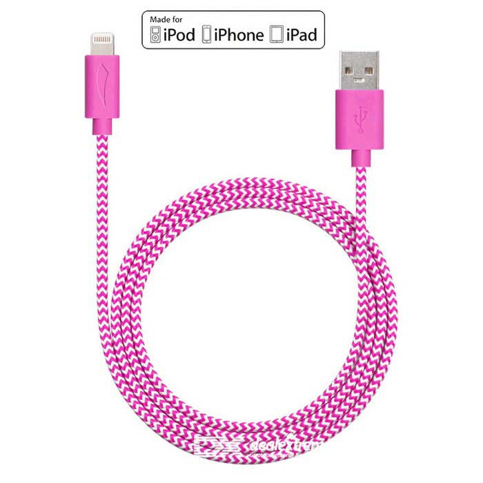 Yellowknife 8Pin relámpago al cable del USB para IPHONE - blanco + púrpura