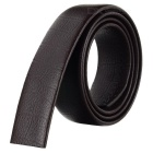 Men's Alligator Pattern Cow Split Leather Waistband Belt w/o Buckle for Automatic Buckle - Brown