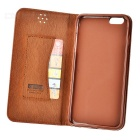 Flip-Open PU Case w/ Stand / Card Slots for IPHONE 6S PLUS - Brown